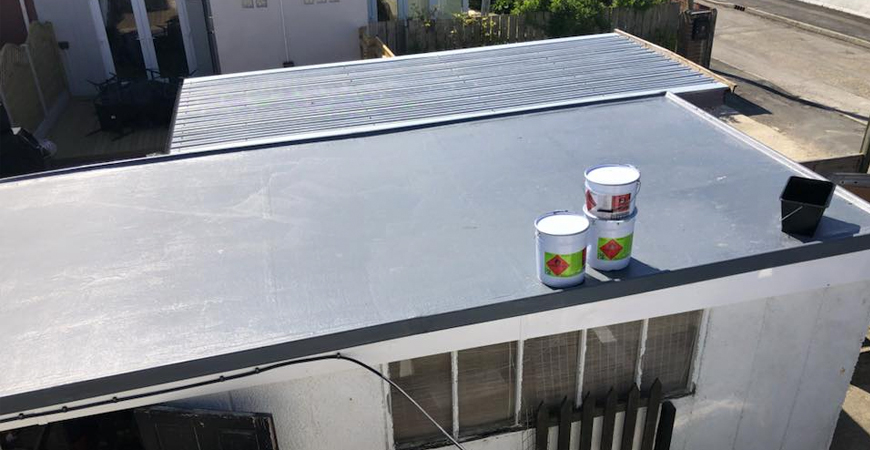 Fibre glass roof repairs